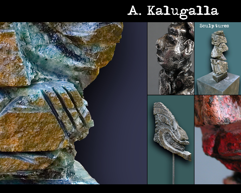 Contemporary Sculpture Sri Lanka Modern Art Sculptor A. Kalugalla Stone Carving